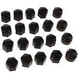 Juego de 20 tapas protectoras para tuercas de rueda de coche de 22 mm, color