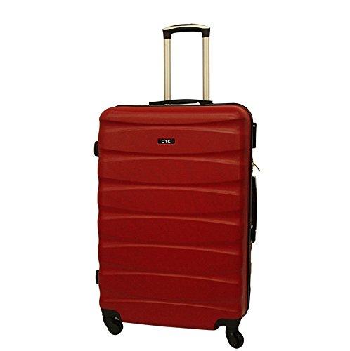 Hartschalen Reisekoffer QTC MAILAND A Trolley Case L Reise Tasche Koffer (L (68 cm ), Rot)