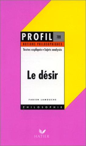 Le Désir - notions philosophiques