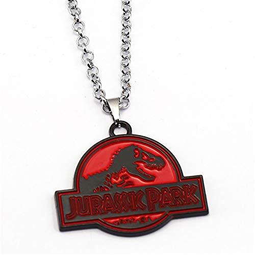 Neuer Film Jurassic Park Halskette Rund Um Die Jurassic Welt Exquisite Anhänger Halskette Für Frauen Männer