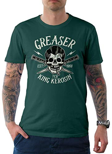 T-Shirt Tee Greaser Blau 2XL ()