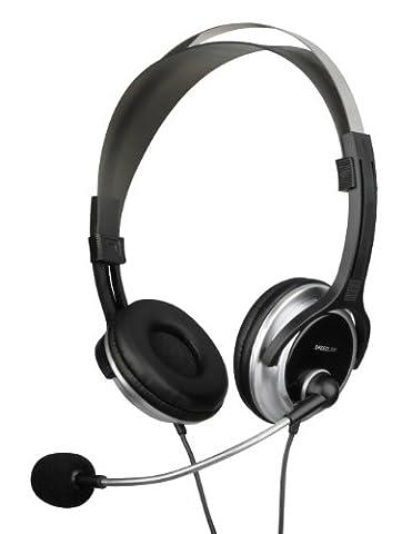 Speedlink Chronos Casque avec Microphone et Télécommande Filaire (Fiche Jack 3,5Mm, Serre-Tête Souple, Arceau Solide en Métal)