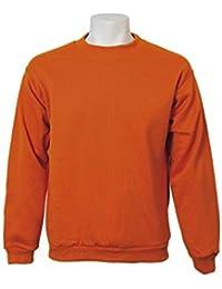 Jumar Sport - Sudadera básica, Color: Naranja Vivo, Talla: l