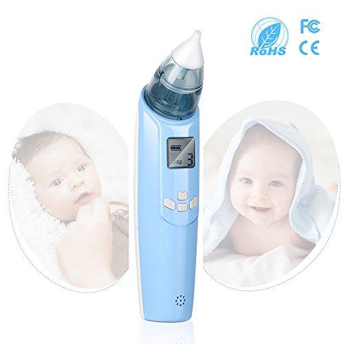 Baby Nasensauger Elektrische Nase Reiniger mit Musik & Blitzlicht, Sicherer Schneller Hygienischer Nasensekretsauger für Neugeborene und Kleinkinder
