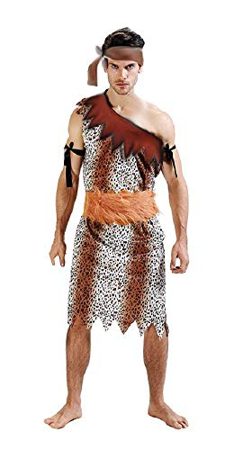 Flintstones Kostüm Zubehör - lovelegis PRI09 - Primitiver HöhlenmenschCostume - Primaten - Höhlenbewohner - Flintstones - Verkleidung Karneval Halloween Cosplay Zubehör - Einheitsgröße - Erwachsene