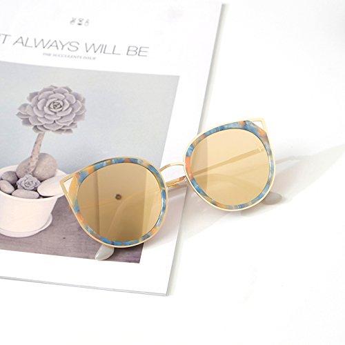 Sunyan Red net neue Sonnenbrillen und weibliche Mode Sonnenbrille Persönlichkeit Avantgarde konnte tide Tide, Blond blond Heben