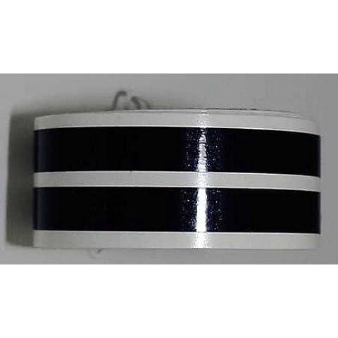 Zietech–Adesivo per cerchi nero, Paio, 6mm, 17fino a 18, Moto
