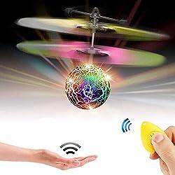 Bola Voladora,CYMY Helicóptero Volador Juguetes Regalos de Navidad para Niños Niñas 3-15 Años Regalo de Cumpleaños