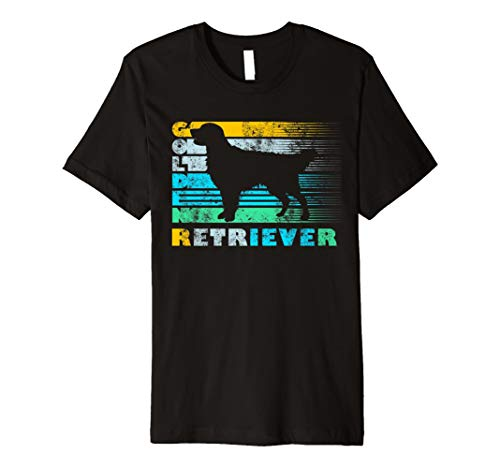 Golden Retriever Vintage Retro Silhouette Distressed Shirt -