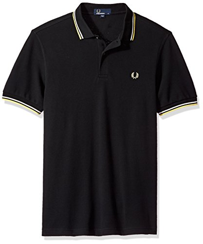 Fred Perry Herren Poloshirt Fp Twin Tipped Fred Perry, Blau Multicolore (Blck/Swht/Sftylw)