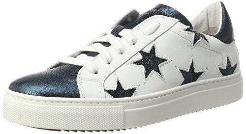 Stokton Sneaker, Sneakers Basses Femme Multicolore (Bianco/verde)