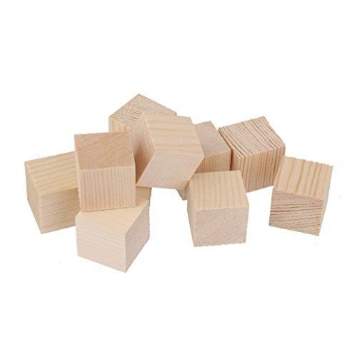 Homyl 12/24er Set Holzwürfel Holz Quadrat Blöcke Spielsteine Bastelholz Modellholz Würfel Für Handwerk Basteln - 12 Stück, 50mm (Holz-blöcke Handwerk Für)