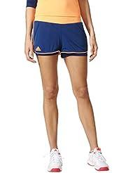adidas court Pantalones Cortos, primavera/verano, mujer, color Mystery Blue/Glow Orange, tamaño medium