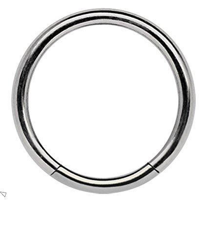 TITANIO Piercing joya anillo de segmento 1,2 x 7mm