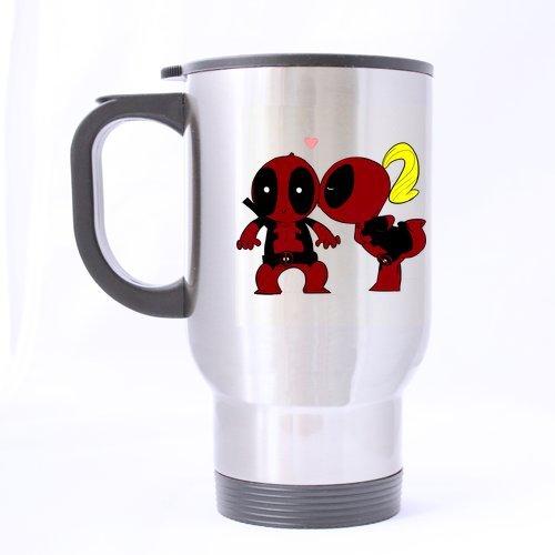 Motif Deadpool Lover Design personnalisé Mug de voyage-Bouteille de sport-Argent-Tasses à café bureau Home 14 OZ 2 côtés imprimés tasses