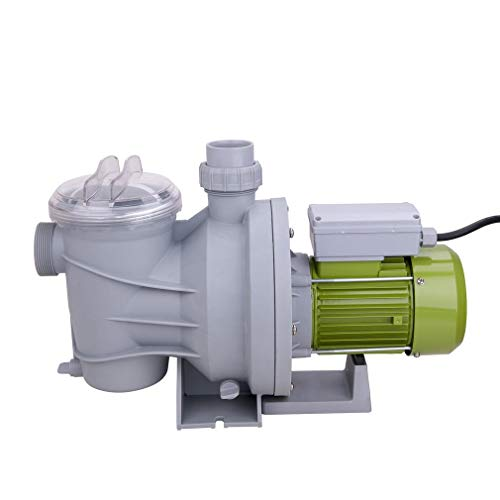 ALTERDJ Poolpumpe Schwimmbadpumpe Umwälzpumpe Filterpumpe 15000L/h,800W für die Zirkulation und Filtrierung