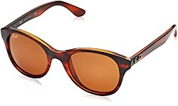 Ray-Ban UV protected Round Unisex Sunglasses - (0RB4203820/7351|51|Dark Brown)