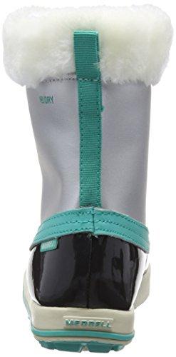 Merrell Spruzzi Wtpf, Bottes de Neige fourrées mixte enfant Argent (Silver/Turquoise)