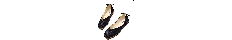 AIMENGA Zapatos Planos Zapatos Redondos Zapatos De Arrugas De Fondo Plano Retro Satén Tela Brillante Mujeres Zapatos... -