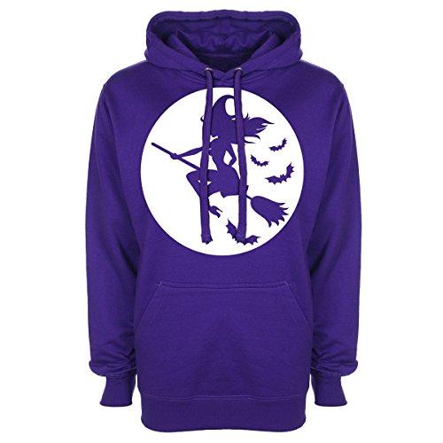 Sexy Strega Luna con Cappuccio Purple Large