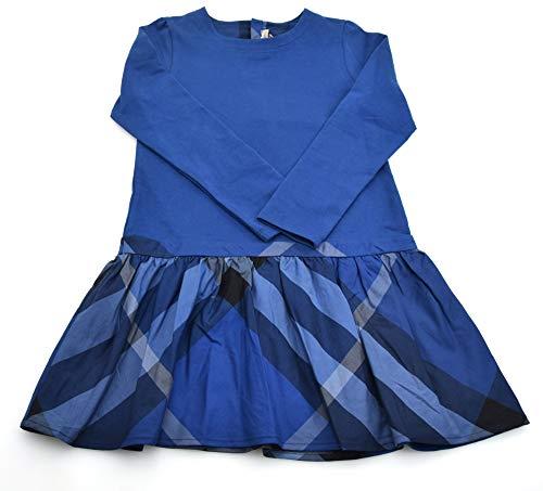 BURBERRY Kind MÄDCHEN FRÜHJAHR Kleidung TRÄGERKLEID BLAU Baumwolle B02571/830 6 ANNI - Years (114 cm) BLU - Blue