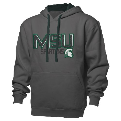 Ouray Sportswear NCAA Michigan State Spartans Benchmark Colorblock Pullover Kapuze, Größe XXL, graphit/Athletic Hunter (Jersey Michigan)
