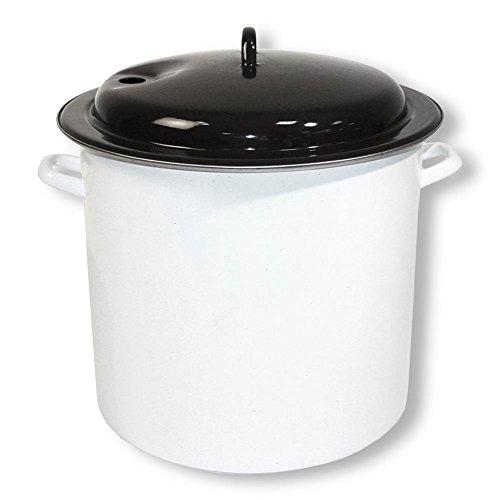 HC-Handel 931157 Einkochtopf emailliert 35 cm 28 Liter