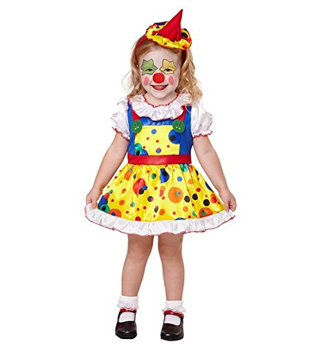 Für Kostüme Kleinkinder Clown (Clown-Mädchen - Kinder Kostüm - Kleinkind - Ages 2-3 -)