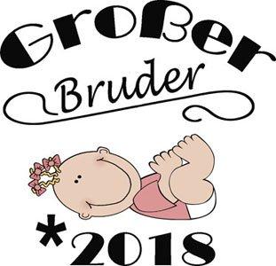 Mister Merchandise Herren Men T-Shirt Großer Bruder - 2018 Tee Shirt bedruckt Grau