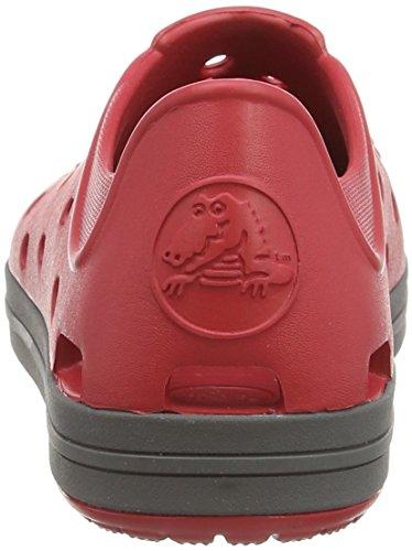 Crocs Bumper Toe, Baskets basses garçon Rouge (Pepper/Graphite)