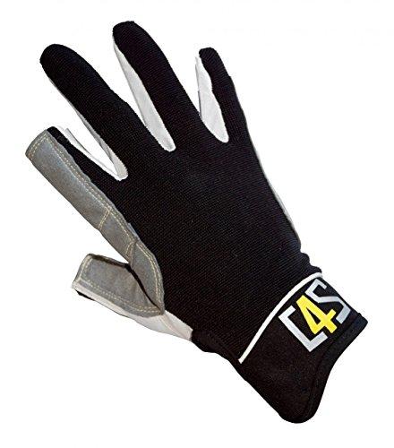 crazy4sailing Damen Herren Segelhandschuhe Offshore - 2 Finger-frei, Farbe:schwarz, Größe:M