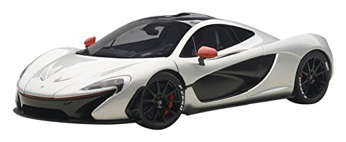 mclaren-p1-ice-silver-with-red-accents-1-18-by-autoart-76023