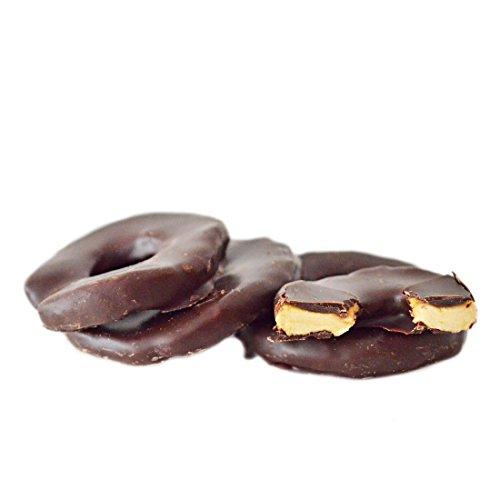 Apfelringe in edle Zartbitterschokolade 250 g   schokolierte Früchte