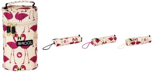 Moos – Neceser con 3 portatodos llenos, diseño Flamingo (SAFTA 411423703)