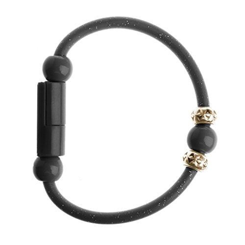 JimTw-DE Usb - Typ C Daten Synchronisieren Das Kabel Für Android - Handy Kurz Roud Perle Armband (6 Feet Micro-usb-kabel-pack)