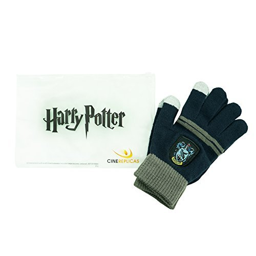 Cinereplicas - Harry Potter - Gants Ecran Tactiles - Licence Officielle - Maison Serdaigle - Taille Unique - Bleu et Gris