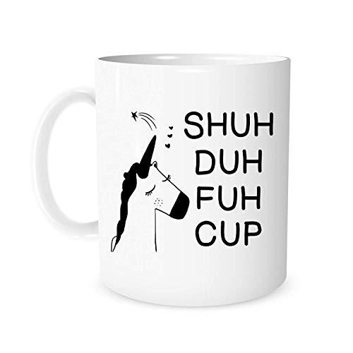inhorn Tasse Becher 325 ml Keramik Geschenk Kaffeetasse Lustiges Einhorn Neuheit Geschenk Geschenk Geburtstag Geschenk für Männer Frauen ()