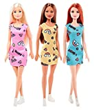 #6: Happy Barbie Doll Pack of 3 T7439 (Pink , Blue , Yellow)