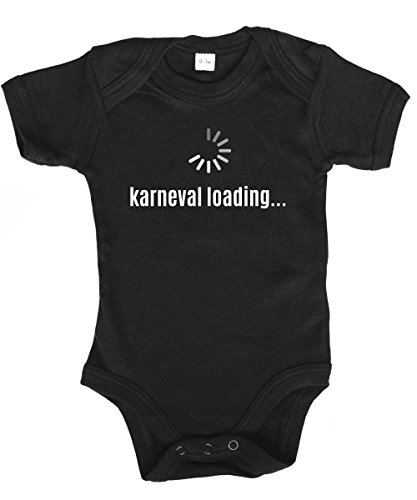 Baby Kostüm Bender - clothinx ::: Karneval Loading ::: Babybody Schwarz, Größe 3/6 Monate