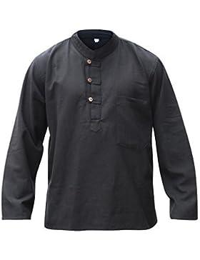 Shopoholic FASHION HOMBRE Hemp Camisa De Abuelo Hippy Claro Suéter