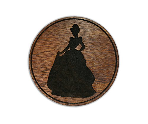 Princess Cinderella - Cleaning Maid - Slave - Love - Custom Wooden Coaster Set (Cinderella Stand)