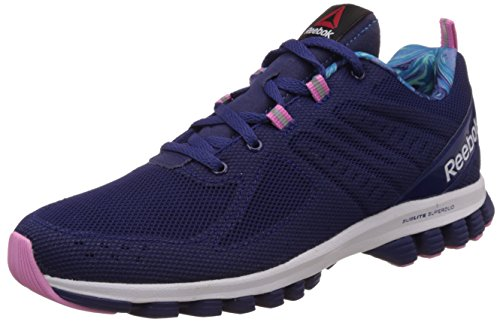 Reebok Women's Sublite Super Duo 2.0 Ws Dark Blue, Blue, White and Pink Running Shoes – 5 UK 412PhtCRttL