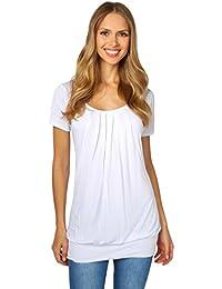 KRISP® Damen Basic Jersey Longshirt