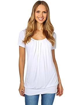 KRISP Camiseta Mujer Verano Larga Ancha Talla Grande Manga Corta Casual