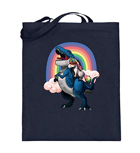 4537c20d5f93 SwayShirt Einhorn Reitet T-Rex Dinosaurier Dino Halloween Weltall Galaxie  Geschenkidee T-shirt - Jutebeutel (mit langen Henkeln)