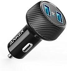 Anker PowerDrive 2 Elite 24W 2 Port Kfz Ladegerät, Auto Ladegerät mit PowerIQ Technologie  für iPhone, iPad Air / Mini, Samsung Galaxy / Note, HTC, LG, Huawei, Xiaomi, alle Smartphones, Tablets, Bluetooth Geräten, Powerbank und mehr