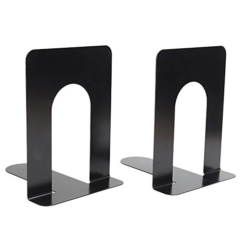 Merssavo 2x schwarze Universal L-Shaped Anti-Rutsch Buchstütze Regal Buch Fall Ende Inhaber Home Office Supplies (Unsere Welt Kinder Anzeigen)