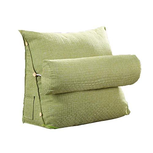 Coseyil Lesekissen Rückenkissen Kissen Kissen Dreieck Rückenlehne Keilkissen Taille Kissen Sofa Bürostuhl Lesen Bett Kissen Kissen, grün, Einheitsgröße