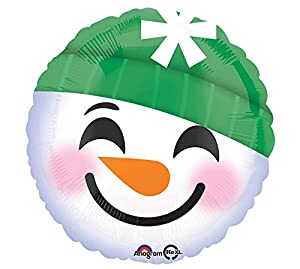 Amscan International 3404101 - Globo de nieve con emoticonos