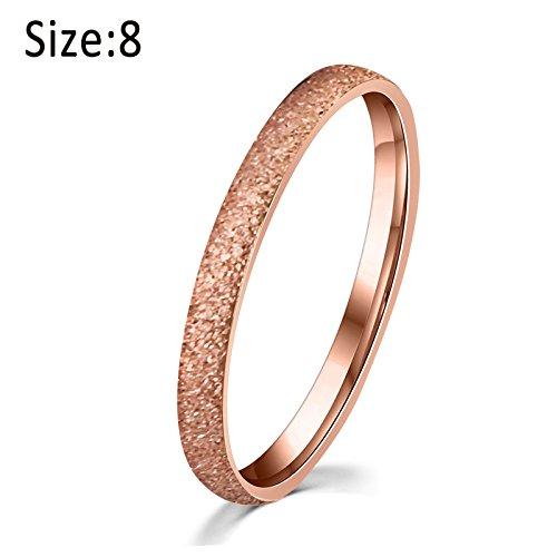 symboat mujeres dedo anillo titanio acero rosa oro mate givr ¨ ¦ de